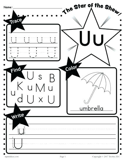 12 Letter U Worksheets for Young Learners | KittyBabyLove.com