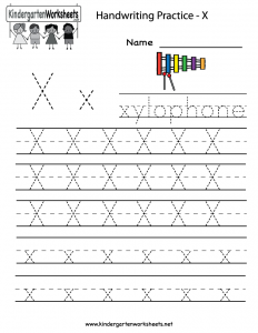 Free Printable Letter X Worksheets