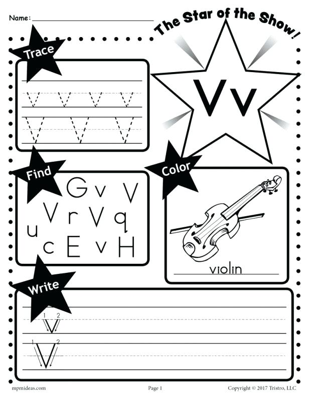 Free Printable Preschool Worksheets Letter V