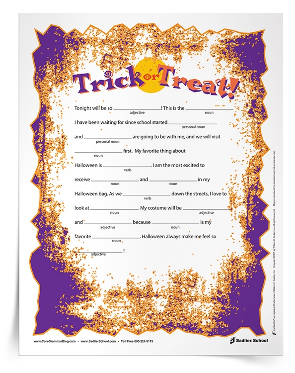Revered image in mad libs for middle schoolers printable