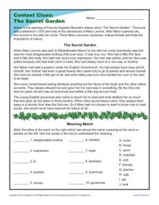 Inference Context Clues Worksheets