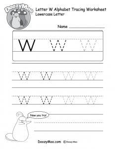 Letter W Tracing Worksheets