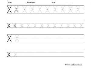 Letter X Handwriting Worksheets