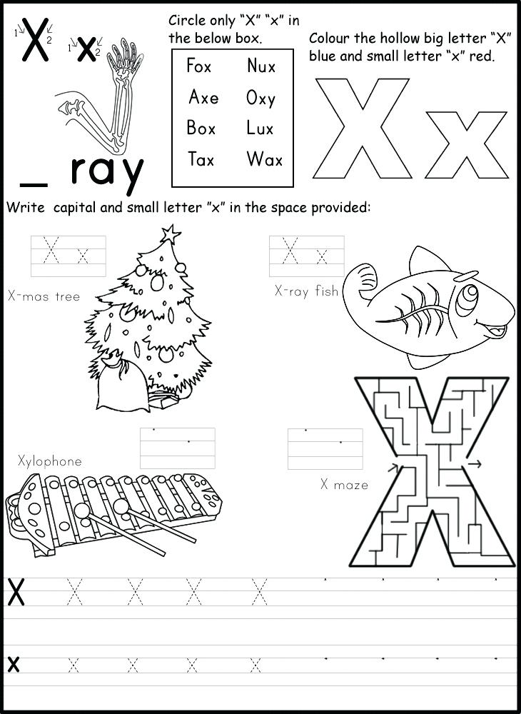 10 Letter X Learning Worksheets for Kids | KittyBabyLove.com