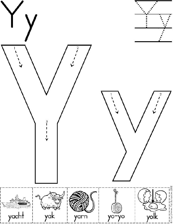Letter Y Worksheets for Toddlers