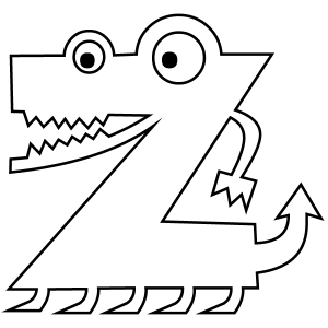 Letter Z Coloring Worksheets