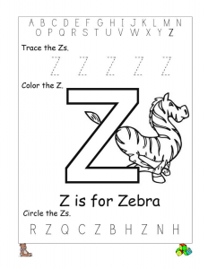 Letter Z Worksheets For Pre K