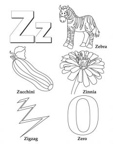 Letter Z Worksheets for Kindergarten and Toddlers