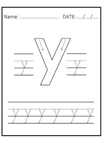 Tracing Letter Y Worksheets