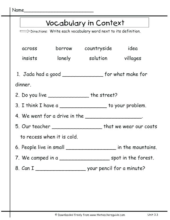 38 Interesting Context Clues Worksheets   KittyBabyLove.com