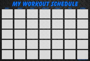 30 Day Monthly Workout Calendar Template