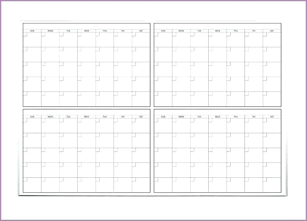 photo relating to 4 Month Calendar Printable titled 32 Successful Blank Regular Calendars