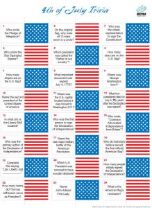 4th Of July Trivia for Seniors Adults