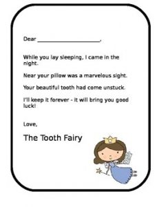 A Letter from the Tooth Fairy for a Girl Free
