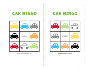 Car Bingo for Toddlers