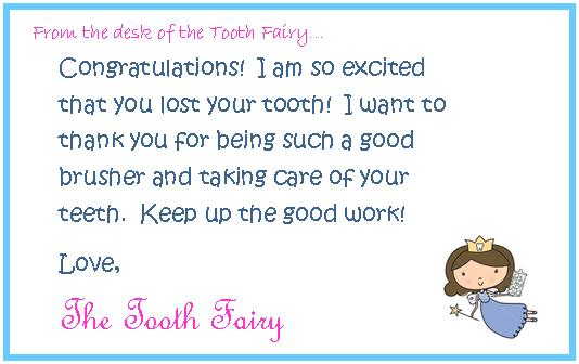 graphic relating to Free Printable Tooth Fairy Letters named 36 Lovely Teeth Fairy Letters