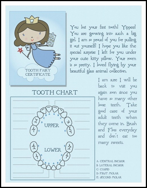 picture relating to Tooth Fairy Printable Letter known as 36 Lovable Teeth Fairy Letters