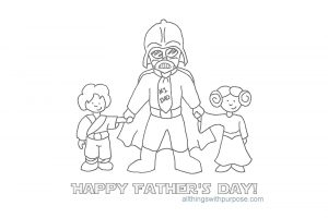 Funny Printable Father's Day Cards to Color