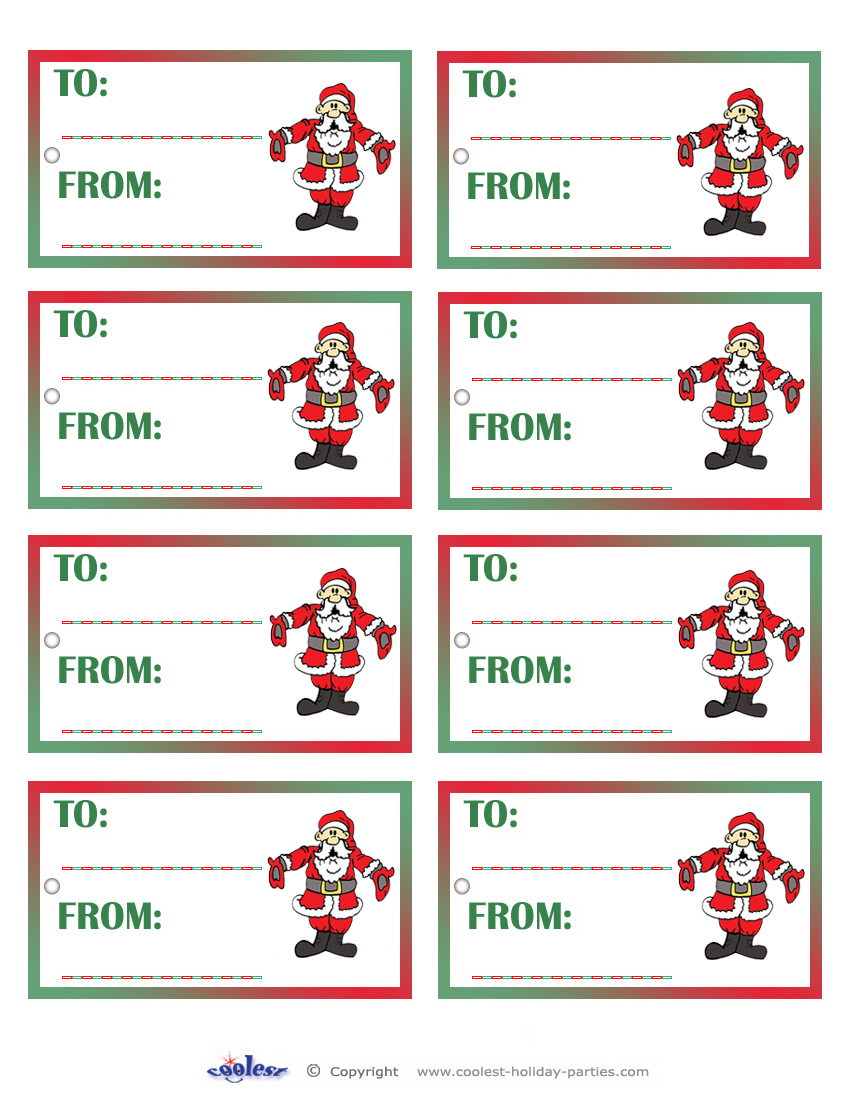 It's just a photo of Adorable Secret Santa Tags Printable