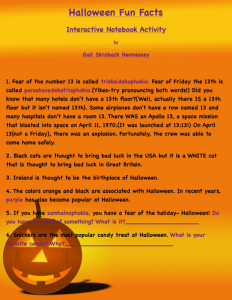 Halloween Facts and Trivia