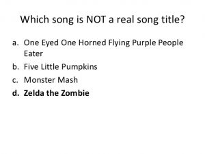 Halloween Song Trivia Questions and Answers
