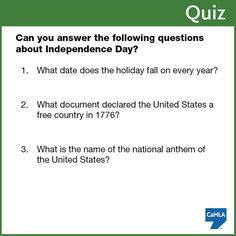 Independence Day Trivia Quiz Game Facts for Kids