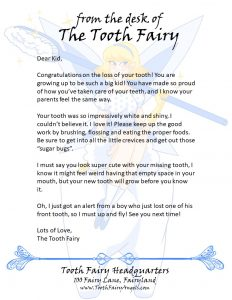 Letter From Tooth Fairy No Tooth