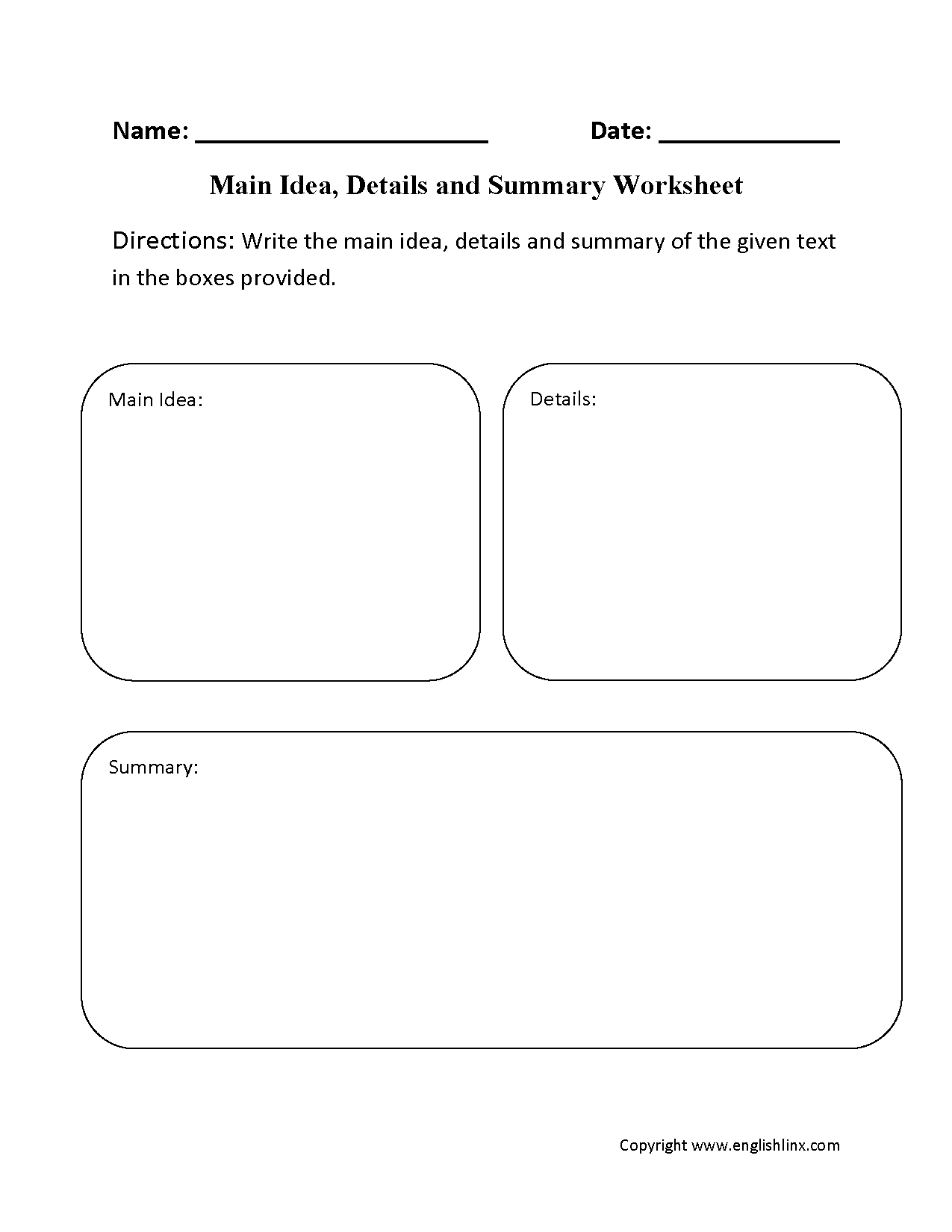 29 Comprehensive Main Idea Worksheets   KittyBabyLove.com