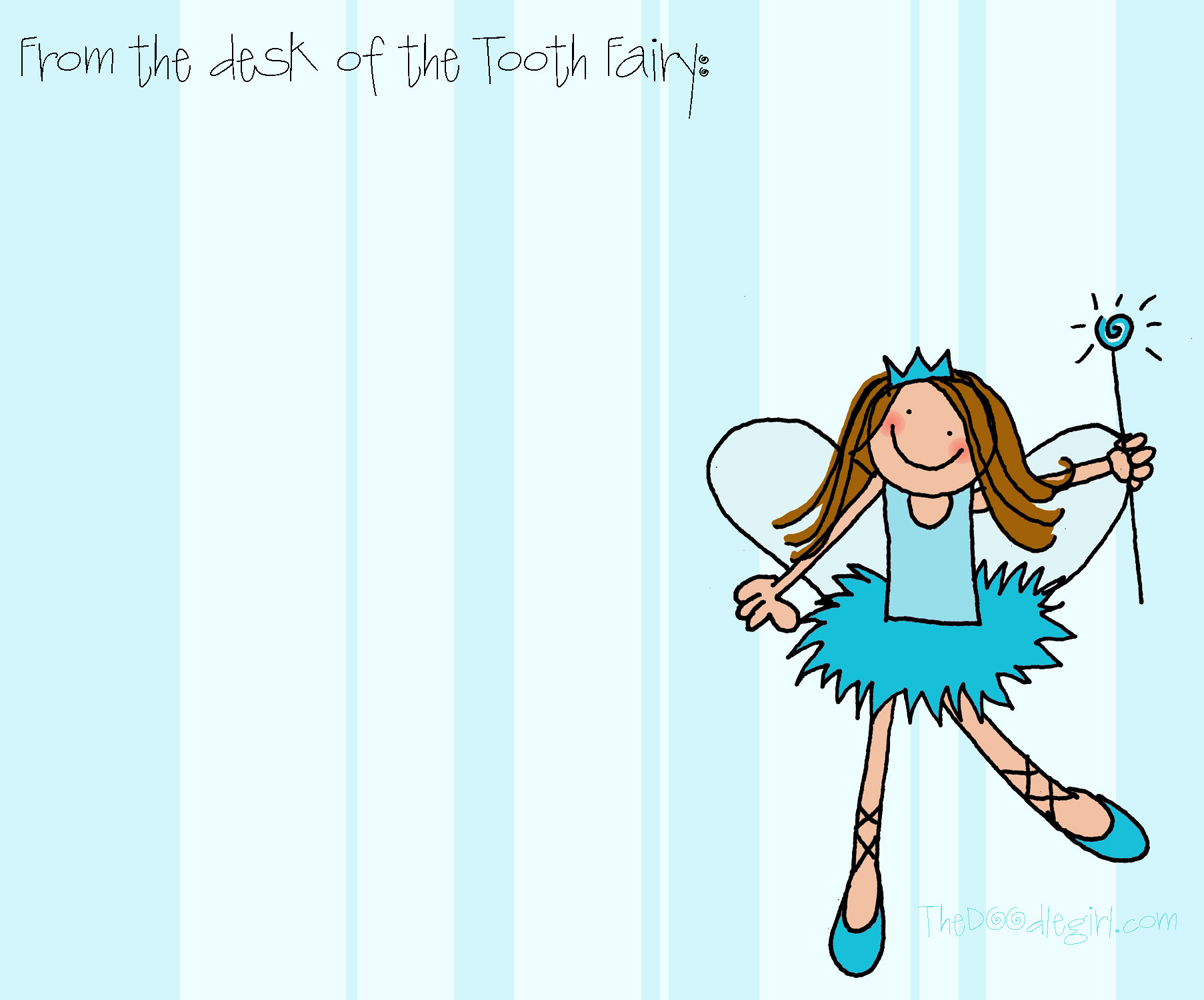 36 Cute Tooth Fairy Letters   KittyBabyLove.com