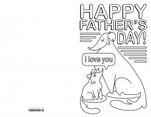 Printable Fathers' Day Card to Color for Kids