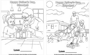 Printable Fathers' Day Cards for Grandpa to Color