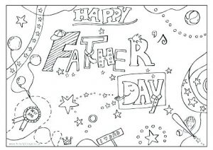 Printable Fathers' Day Cards to Color