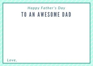 Printable Fathers' Day Cards to Color From Daughter