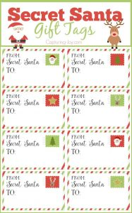 Printable Gift Tags for Secret Santa