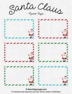 Secret Santa Gift Tag Template