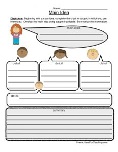 Summery and Main Idea Worksheets 2