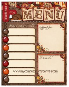 Thanksgiving Meal Planner Ideas