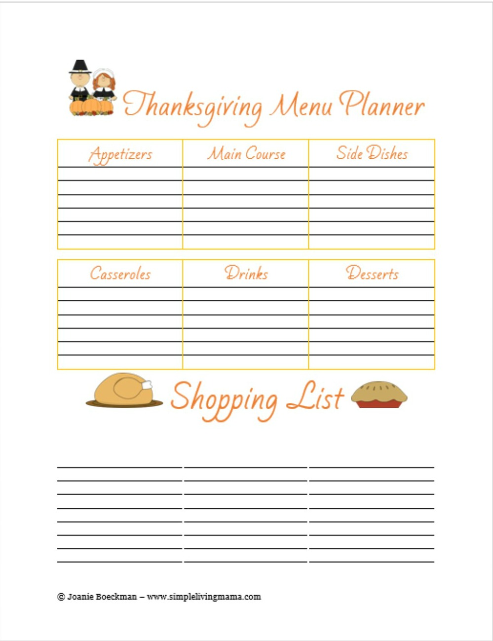 picture about Thanksgiving Menu Planner Printable known as 13 Enlightening Thanksgiving Evening meal Planners
