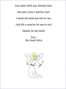Tooth Fairy Forgot Letter