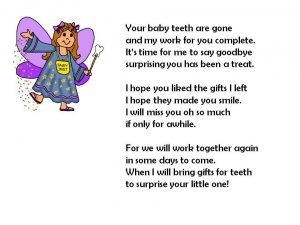 Tooth Fairy Goodbye Letter