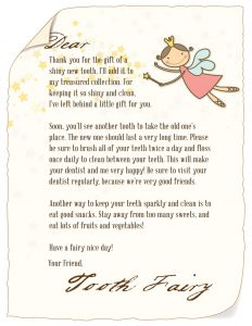 Tooth Fairy Letter Games for Kids to Children Free