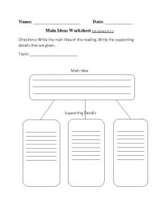 Unstated Main Idea Worksheets
