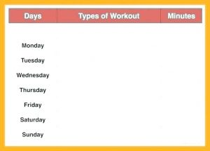 Weekly Workout Calendar Template Free