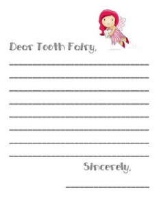 Write a Cute Letter to the Dear Tooth Fairy