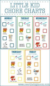 3 Year Old Printable Chore Charts