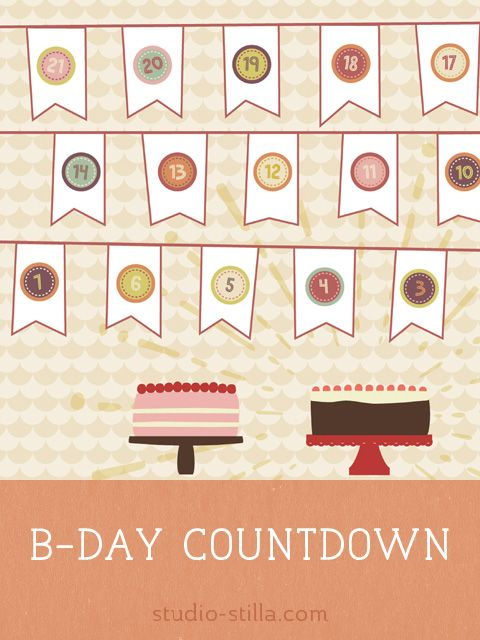 Birthday Countdown Calendar Ideas
