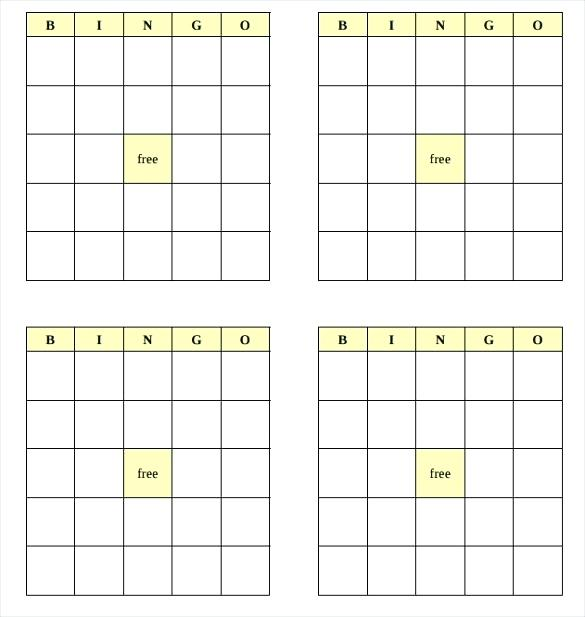 25 Amusing Blank Bingo Cards For All Kittybabylove Com