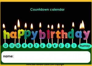 Children's Birthday Countdown Calendar
