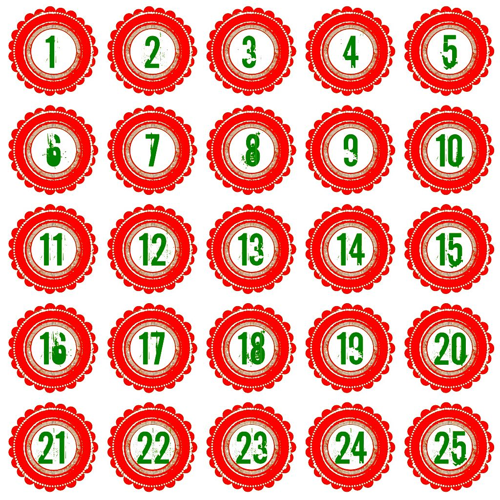 photo relating to Printable Christmas Countdown titled 22 Remarkable Xmas Countdown Calendars