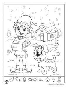 Christmas Hidden Pictures Worksheets